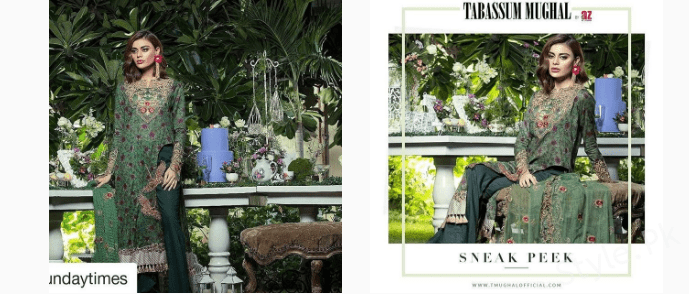 see Sadaf Kanwal Some Clicks From her Photo-shoot for Tabassum Mughal Eid Collection!
