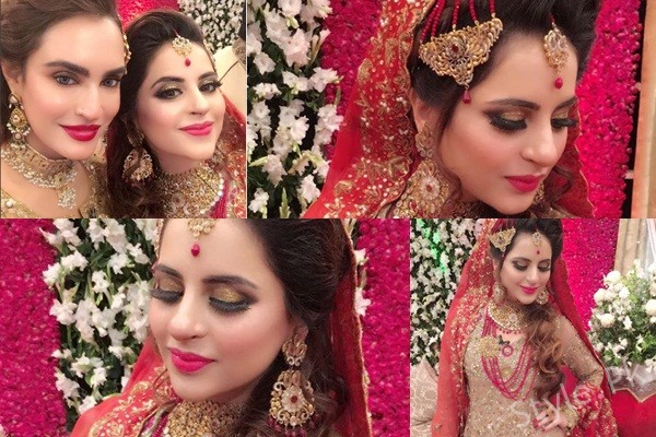 See Fatima Effendi's Bridal makeup done by Nadia Hussain