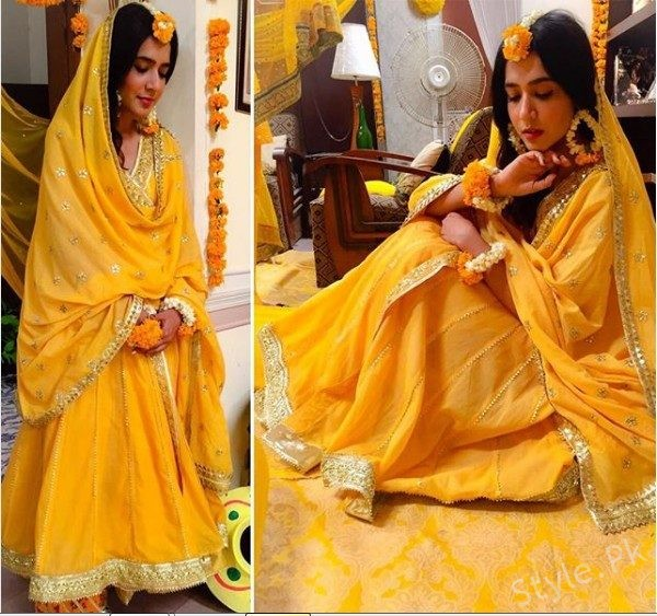 See Mansha Pasha Looks Simple and Elegant in this Yellow Gotta Work Outfit