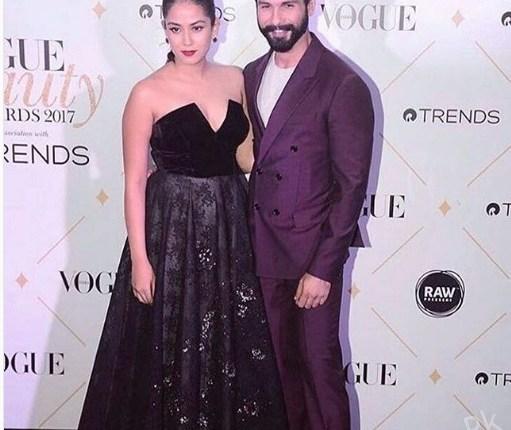 See The Power Couple Shahid Kapoor and Mira Rajput at Vogue Awards 2017