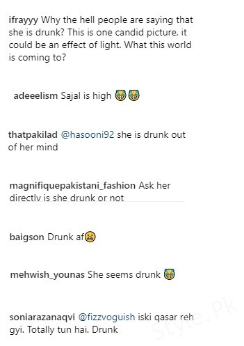 See Social Media called Sajal Ali drunk on her Recent Picture