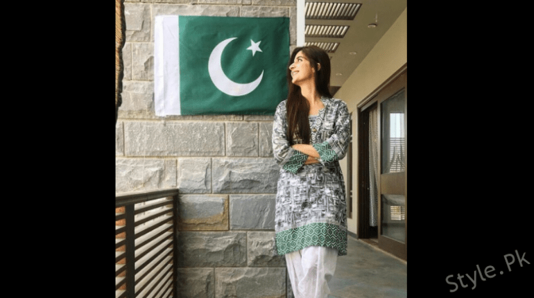 see Pictures of the Cutie Mawra Hocane on the 70th Independence Day of Pakistan!