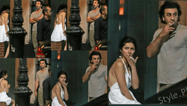 Mahira Khan With Ranbir Kapoor Shooking Pictures