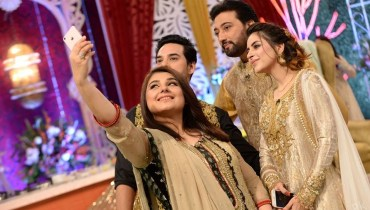 Celebrity Couples At Good Morning Pakistan, pskistsni celebs, famous pakistani celebs, celebrities, fatima effendi, good morning show