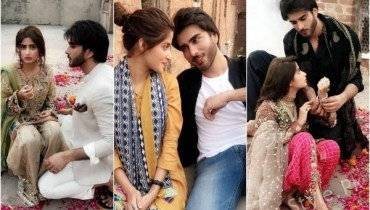 Sajal Aly And Imran Abbas On Set Of Their Upcoming Shoot