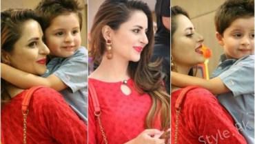 Gorgeous Clicks Of Fatima Effendi With Her Cute Son Almair