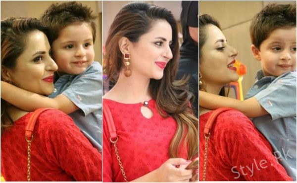 Gorgeous Clicks Of Fatima Effendi With Her Cute Son Almair