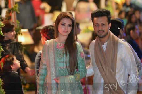 Atif Aslam And Sara Bharwana Recent Beautiful Click