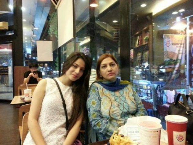 Neelam Muneer with her mom