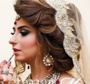 latest pakistani bridal hairstyles