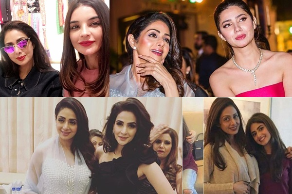 See Pakistani Celebrities Share their pictures with Late Sri Devi