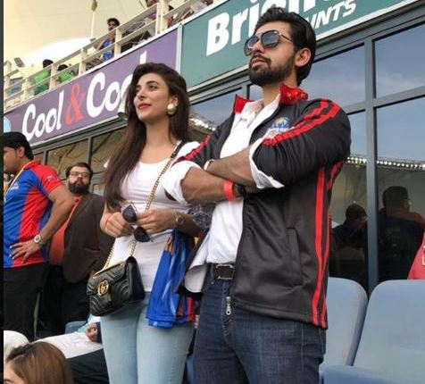 See Urwa Hocane and Farhan Saeed in Dubai Watching PSL