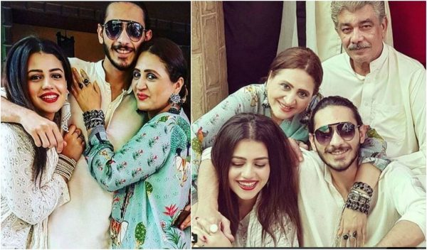 See Zara Noor Abbas with her Family