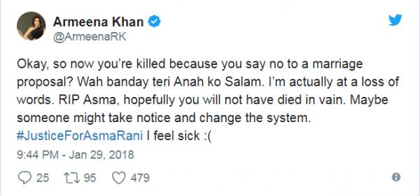 Pakistani Celebrities Demands Justice For Asma