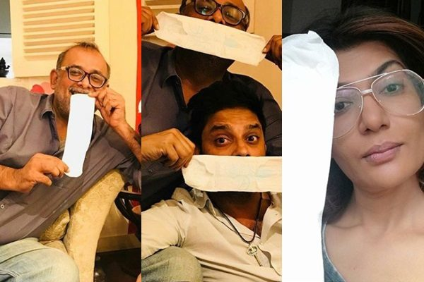 See Pakistani Celebrities are boldly taking pictures with sanitary pads