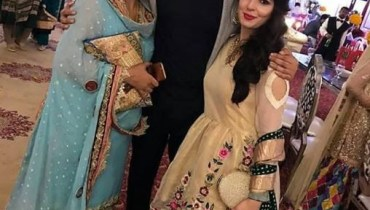 See Bilal Abbas with his Sister and Mother at a Wedding