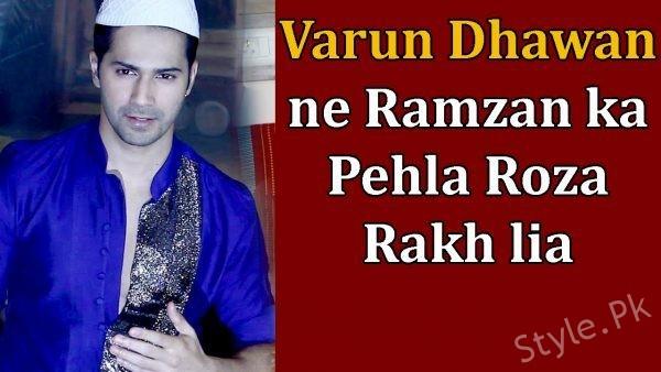 Actor Varun Dhawan Keeps His First Roza Of Ramazan