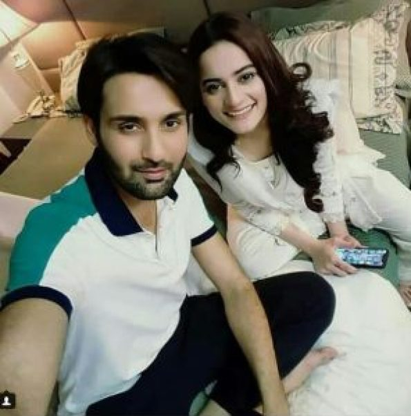 Beautiful Aiman Khan And Affan Waheed On Set Of their Drama