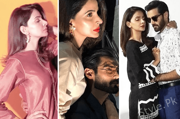 Sizzling Photoshoot Of Saba Qamar And Hasnain Lehri