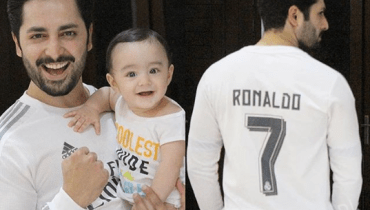 Danish Taimoor Celebrating Real Madrid Victory With His Son Rayyan Taimoor