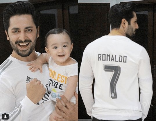 Danish Taimoor Celebrating Real Madrid Victory With His Son Rayyan Taimoor