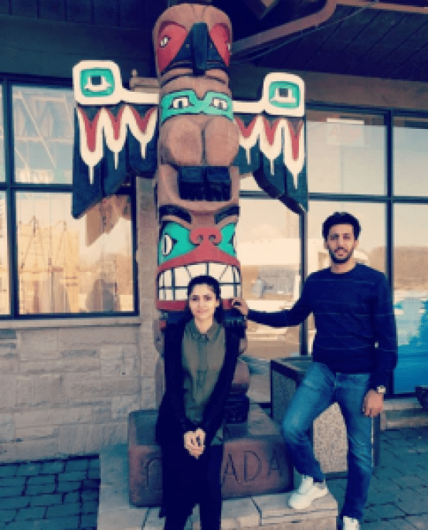 Beautiful Clicks Of Arij Fatyma With Her Husband In Canada