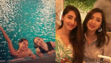 See Komal Aziz with her Sister in USA