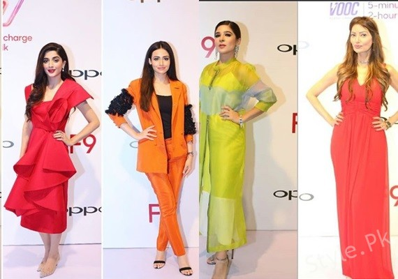 See Celebrities at Oppo F9 Launch Event in Lahore