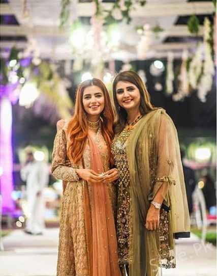 See Momina Mustehsan with her Family at her Brother's Nikkah