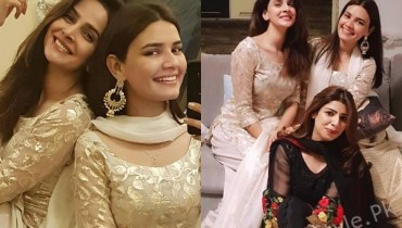 See Saba Qamar and Kiran Haq Twinning on Eid