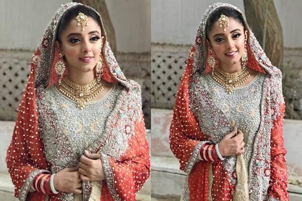 See Sanam Chaudhry's Bridal Look from drama serial 'Ab Dekh Khuda Kya Karta Hai'