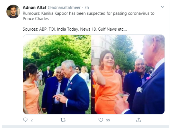 Did Kanika Kapoor give coronavirus to Prince Charles ...