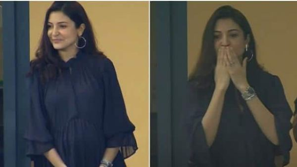 Anushka Sharma flaunts her baby bump in IPL match