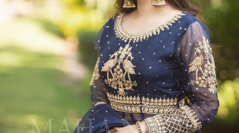 Actress Nawal Saeed Looking Gorgeous in Navy Blue Bridal Shoot