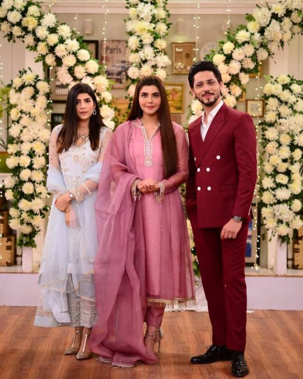 Ahmed Godil With His Wife On The Set Of Good Morning Pakistan