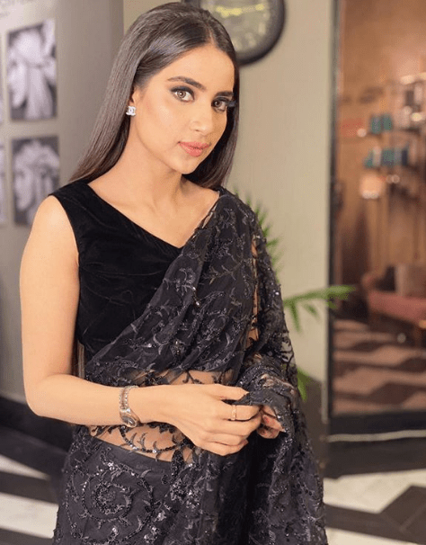Saboor Aly Rocks A Black Colored Gorgeous Saree