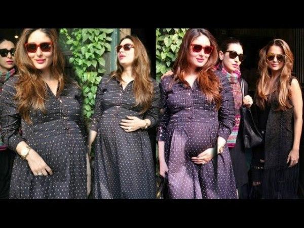 Kareena Kapoor Khan Flaunts Her Baby Bump in Casual Dress
