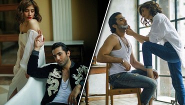 Syra Yousuf And Sheheryar Munawar's Bold Photos Goes Viral