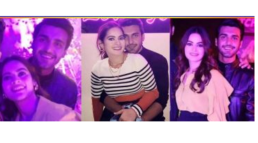 Lovebirds Minal Khan and Ahsan Ikram at birthday party