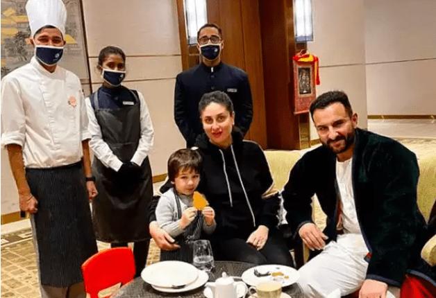 Taimur Enjoys A Culinary Session With Kareena And Saif