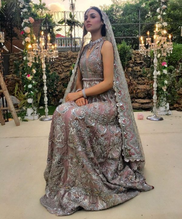 Actress Mashal Khan sizzles photos in Pakistani bridal dresses