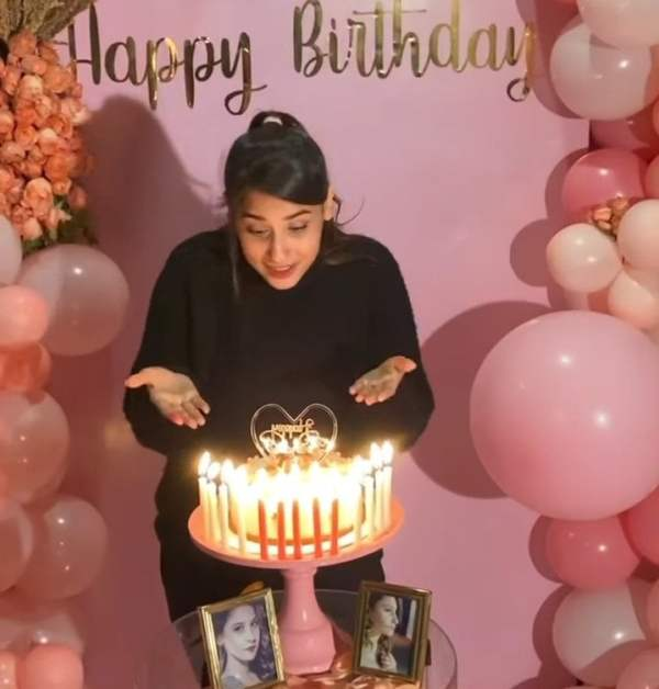 Agha Ali throws a surprise birthday party for wife Hina Altaf