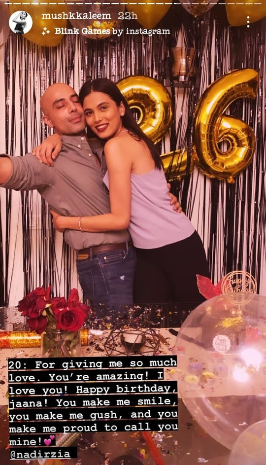 Mushk Kaleem Wished Birthday To Someone Special Hot Pictures