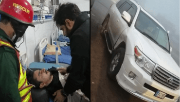 Abrar ul Haq car smashes near Gujranwala nephew injured