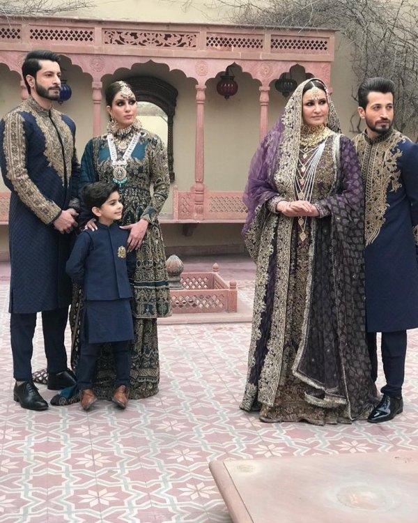Saba Faisal Family Photoshoot for Designer HSY