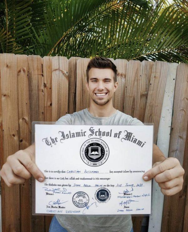 Zoya Nasir German Friend Christian Betzman Accepted Islam