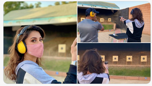 Mehwish Hayat Takes Gun To Deal With Her Madness