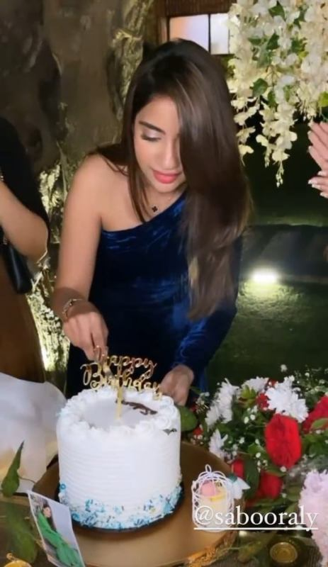 Saboor Aly Birthday Bash With Celebrities