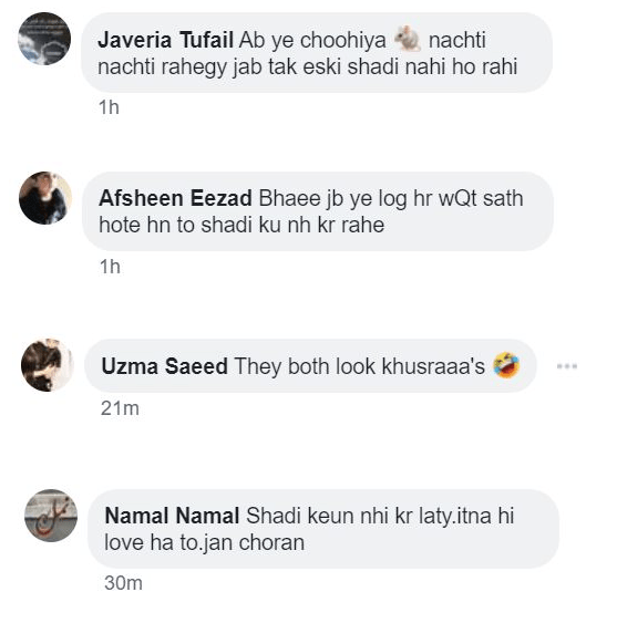 Public reaction on recent selfie of Minal khan & Ahsan mohsin