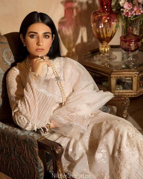 Pakistani Actress Sarah Khan Is In Ensembles By Nilofer Shahid